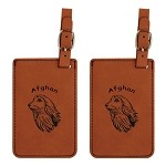 Afghan Head Luggage Tag 2 Pack L1052