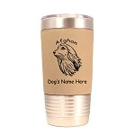 1052  Afghan Head 20oz Polar Camel Tumbler with Lid Personalized with Your Dog's Name