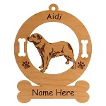 1061 Aidi Standing Ornament Personalized With Your Dog's Name
