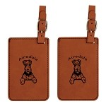 Airedale Sitting Luggage Tag 2 Pack L1065