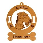 1088 Airedale Head #2 Ornament Personalized With Your Dog's Name