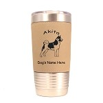 1102 Akita Standing 20oz Polar Camel Tumbler with Lid Personalized with Your Dog's Name