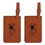 Akita Down Luggage Tag 2 Pack L1128