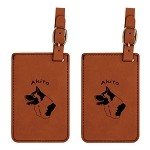 Akita Head Luggage Tag 2 Pack L1154