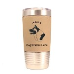 1154 Akita Head 20oz Polar Camel Tumbler with Lid Personalized with Your Dog's Name