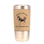 1178 Alaskan Klee Kai Standing 20oz Polar Camel Tumbler with Lid Personalized with Your Dog's Name