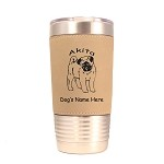 1180 Akita Puppy Standing #1 20oz Polar Camel Tumbler with Lid Personalized with Your Dog's Name