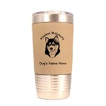 1181 Alaskan Malamute Head 20oz Polar Camel Tumbler with Lid Personalized with Your Dog's Name