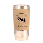 1182 Alaskan Malamute Standing #1 20oz Polar Camel Tumbler with Lid Personalized with Your Dog's Name