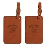 American Bulldog Head Luggage Tag 2 Pack L1185