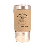 1185 American Bulldog Head 20oz Polar Camel Tumbler with Lid Personalized with Your Dog's Name