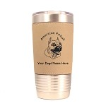 1193 American Pitbull Head 20oz Polar Camel Tumbler with Lid Personalized with Your Dog's Name