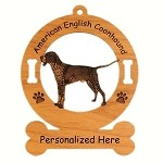 1205 American English Coonhound Standing Ornament Personalized with Your Dog's Name