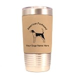 1244 American Foxhound Standing 20oz Polar Camel Tumbler with Lid Personalized with Your Dog's Name
