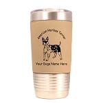 1245 American Hairless Terrier 20oz Polar Camel Tumbler with Lid Personalized with Your Dog's Name