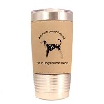 1246 American Leopard Hound 20oz Polar Camel Tumbler with Lid Personalized with Your Dog's Name