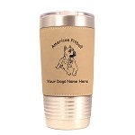 1249 American Pitbull Laying  20oz Polar Camel Tumbler with Lid Personalized with Your Dog's Name