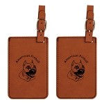 American Pitbull Head Luggage Tag 2 Pack L1250