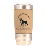 1257 American Staffordshire Standing  20oz Polar Camel Tumbler with Lid Personalized with Your Dog's Name