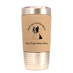 1258 American Staffordshire Head 20oz Polar Camel Tumbler with Lid Personalized with Your Dog's Name