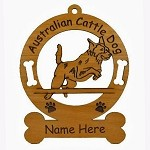 1296 Australian Cattle Dog Jumping Ornament Personalized with Your Dog's Name