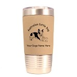 1298 Australian Cattle Dog Laying 20oz Polar Camel Tumbler with Lid Personalized with Your Dog's Name