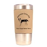 1302 Australian Cattle Standing #1 20oz Polar Camel Tumbler with Lid Personalized with Your Dog's Name
