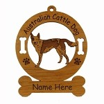 1302 Australian Cattle Dog Standing 1 Ornament Personalized with Your Dog's Name