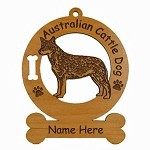 1309 Australian Cattle Dog Standing 2 Ornament Personalized with Your Dog's Name