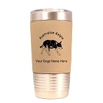 1375 Australian Kelpie Crouching 20oz Polar Camel Tumbler with Lid Personalized with Your Dog's Name
