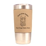 1376 Australian Kelpie Head 20oz Polar Camel Tumbler with Lid Personalized with Your Dog's Name