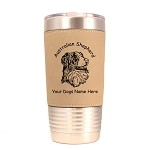 1398 Australian Shepherd Head #2 20oz Polar Camel Tumbler with Lid Personalized with Your Dog's Name