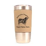 1411 Australian Shepherd Standing #1 20oz Polar Camel Tumbler with Lid Personalized with Your Dog's Name