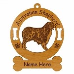 1411 Australian Shepherd Standing Ornament Personalized with Your Dog's Name