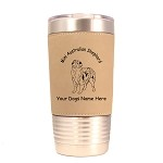 1412 Mini Australian Shepherd Standing #1 20oz Polar Camel Tumbler with Lid Personalized with Your Dog's Name
