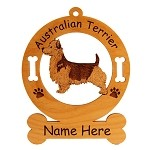 1423 Australian Terrier Standing Ornament Personalized with Your Dog's Name