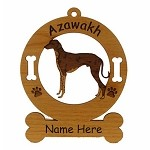 1430 Azawakh Standing Ornament Personalized with Your Dog's Name