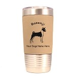 1437 Basenji Standing #1 20oz Polar Camel Tumbler with Lid Personalized with Your Dog's Name