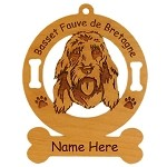 1470 Basset Fauve de Bretagne Head Ornament Personalized with Your Dog's Name