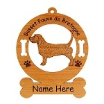 1471 Basset Fauve de Bretagne Standing Ornament Personalized with Your Dog's Name