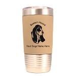 1493 Basset Hound Head #1 20oz Polar Camel Tumbler with Lid Personalized with Your Dog's Name