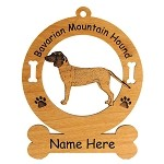 1500 Barvarian Mountain Hound Standing Ornament Personalized with Your Dog's Name