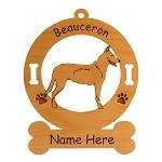 1571 Beauceron Standing #1 Ornament Personalized with Your Dog's Name
