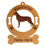 1572 Beauceron Standing #2 Ornament Personalized with Your Dog's Name