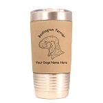 1584 Bedlington Terrier Head 20oz Polar Camel Tumbler with Lid Personalized with Your Dog's Name
