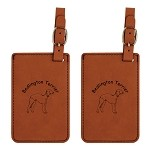Bedlington Terrier Standing Luggage Tag 2 Pack L1597
