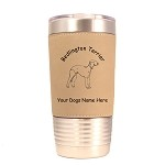 1597 Bedlington Terrier Standing #1 20oz Polar Camel Tumbler with Lid Personalized with Your Dog's Name