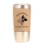 1610 Belgian Malinois Head #1 20oz Polar Camel Tumbler with Lid Personalized with Your Dog's Name
