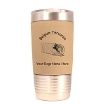 1650 Belgian Tervuren Agility Tunnel 20oz Polar Camel Tumbler with Lid Personalized with Your Dog's Name