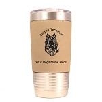 1662 Belgian Tervuren Head #1 20oz Polar Camel Tumbler with Lid Personalized with Your Dog's Name